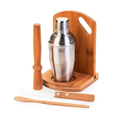 BTM Brindes - Kit caipirinha 6 peças em bambu