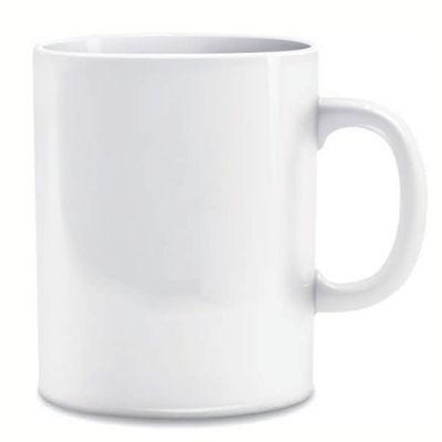BTM Brindes - Caneca de porcelana reta.