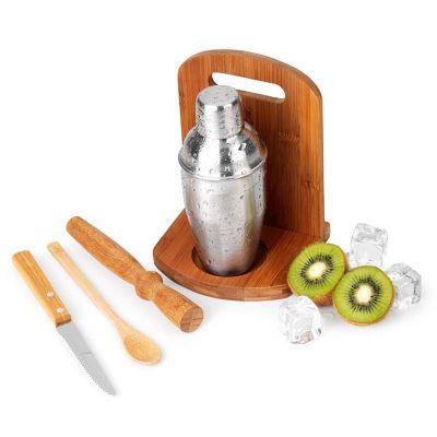 btm-brindes - Kit caipirinha 6 peças em bambu