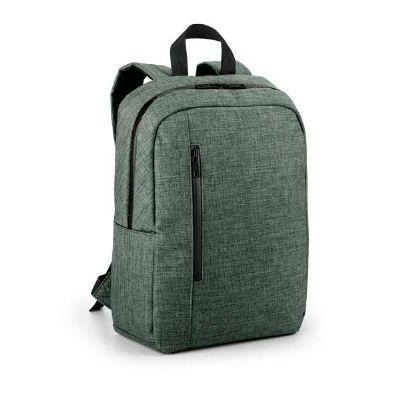 - Mochila para notebook. 600D de alta densidade. Compartimento forrado, com 2 divisórias almofadadas para notebook até 14'' e tablet 9.7''. Bolso fronta...