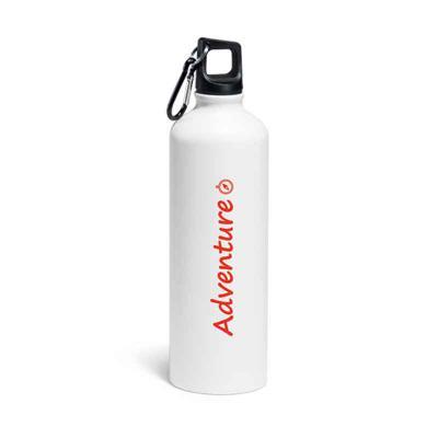 Squeeze. Alumínio. Acabamento matt. Com mosquetão. Capacidade até 750 ml. Food grade. ø73 x 255 mm - BTM Brindes