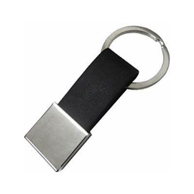 park-brindes - Chaveiro metal com couro personalizado