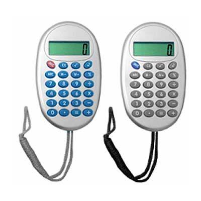 Calculadora personalizada oval com cordão - Park Brindes