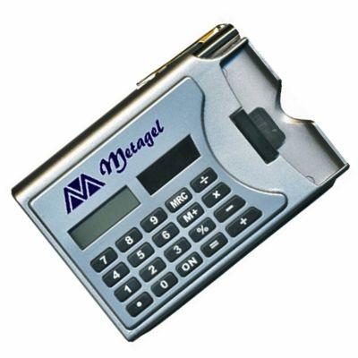 Park Brindes - Calculadora com caneta e porta cartão.