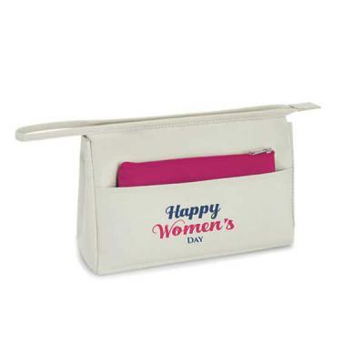 Bolsa de cosméticos 23x15x 7cm + bolsa pequena 18x11cm. Material: Microfibra. Contém bolso bolso ...