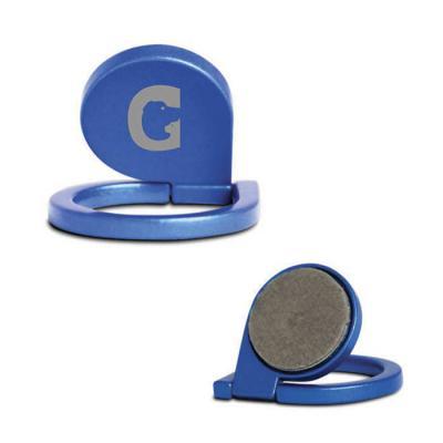 griffipett - Suporte para celular em metal. Tamanho: 36x30x3mm.   Contém autocolante no verso. 36 x 30 x 3 mm Cores: azul, prata e preto. Gravação: laser