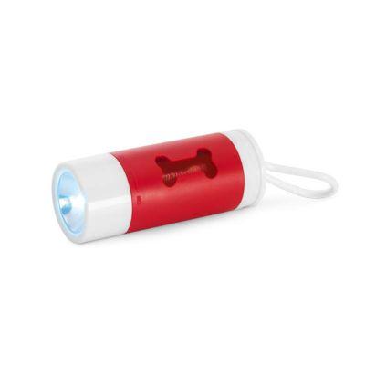 GriffiPett - Kit de higiene para cachorro com led. Produto com 02 funções: Lanterna + porta-saquinho. Disponível nas cores: azul, branco e vermelho. Contém:  LED,...