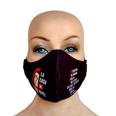 Máscara de tecido duplo em estampa digital