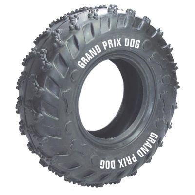 GriffiPett - O pneu é um mordedor divertido para pet. Disponível em 03 tamanhos para agradar dos pequenos ao grandes pets. Personalização em 01 cor
