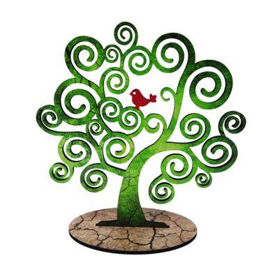 Enfeite no formato de árvore.
