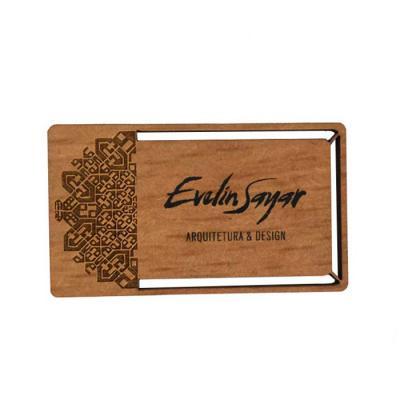 Nossos luxuosos cartões de visita personalizados em madeira ecológico reúnem a tecnologia do corte a laser e o design à beleza natural da madeira.  Es...