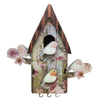 Porta-chaves casa de passarinho - Santa Ana Design