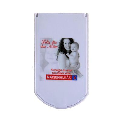 Espelho plástico tamanho:55 x100 mm.