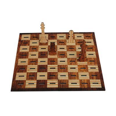 Santa Ana Design - Jogo de xadrez promocional personalizado ótimos para presentear seus clientes, ele é pratico para levar em qualquer lugar! Produzido em MDF 3 mm com c...