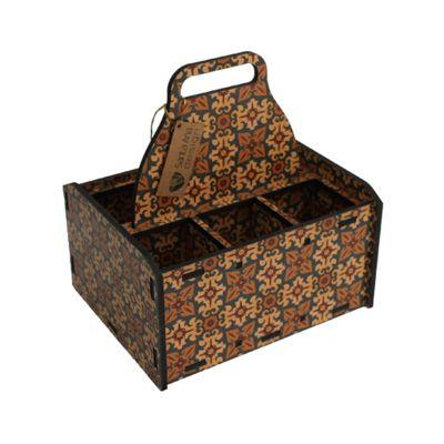 Caixa de madeira personalizada.