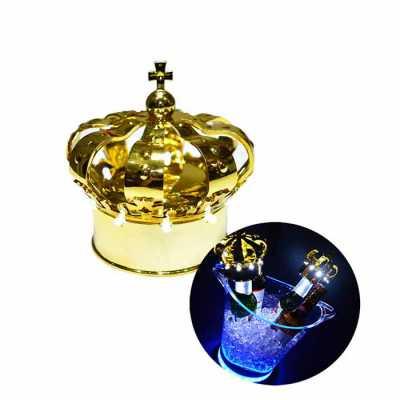 Coroa Strobo LED para garrafas