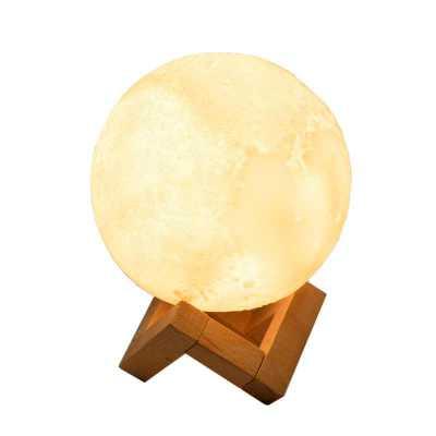 Luminária Abajur de mesa Lua LED 12cm Recarregável - Hutz