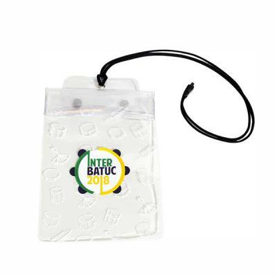 megga-promo - Produzido em PVC Cristal 0.20 mm color, cordão de nylon, ilhós niquelado, botão plástico. Medidas: 12 cm Largura x 18 cm Altura.