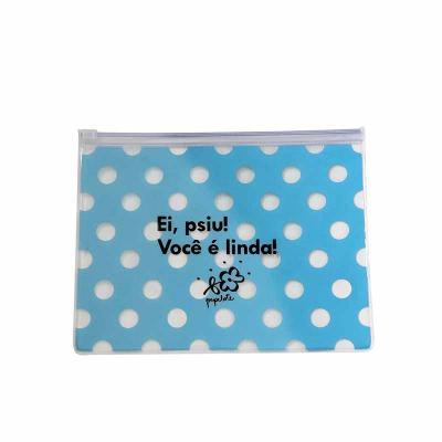 Estojo Zip Zap - Necessaire Zip Zap, produzido em PVC Cristal 020mm, Zip Lock, Cursor Plástico, 2...