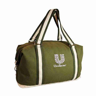 Megga Promo - Bolsa de viagem costurada estilizada com alça de mão e ombro