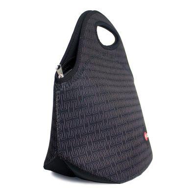 Bolsa lancheira térmica sublimada personalizada em neoprene para brinde.