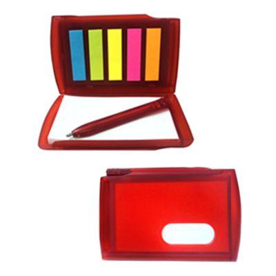 JBX Brindes - Bloco de anotação com mini caneta.