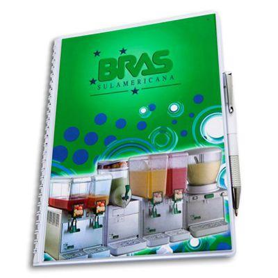 JBX Brindes - Caderno em PVC Cristal.