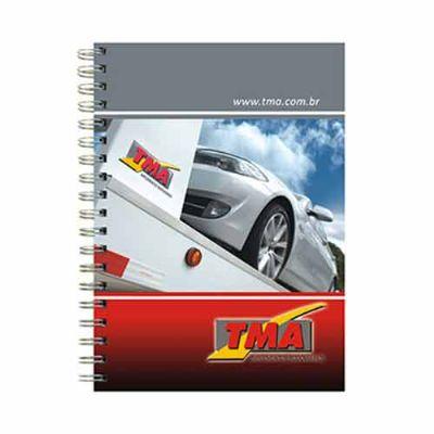 JBX Brindes - Caderno personalizado com capa dura em off set 4 cores, formato: 18 x 25 cm com 1 folha de dados pessoais e calendário, 99 folhas personalizadas e aca...