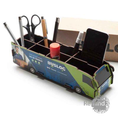 remind - Porta Objetos Montável - Ônibus Dell Personalizado