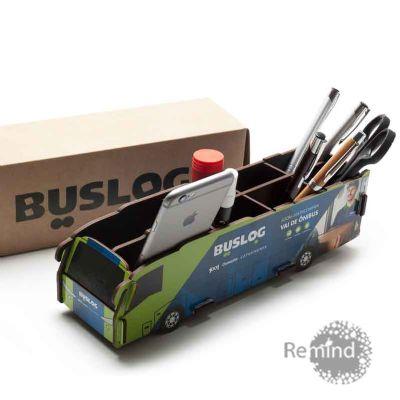 Porta Objetos Montável - Ônibus Dell Personalizado