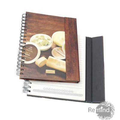 Remind Brindes Inteligentes - Caderno de capa dura com fecho magnético personalizado - Nat