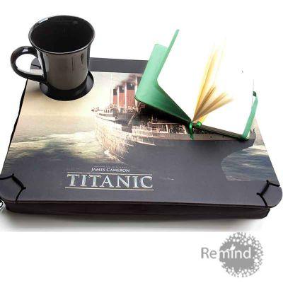 Suporte Personalizado para Notebook com Porta Copo - Titanic - Remind Brindes Inteligentes