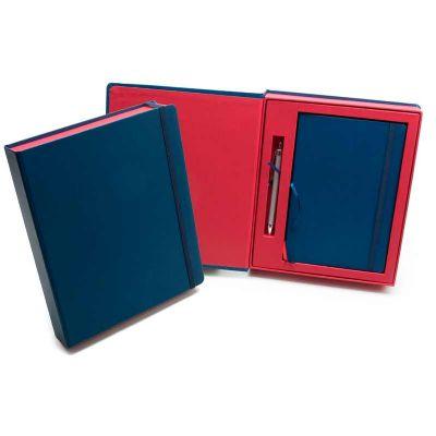 Remind Brindes Inteligentes - Kit VIP Frankfurt - 2 Cadernetas em caixa cartonada com caneta metálica