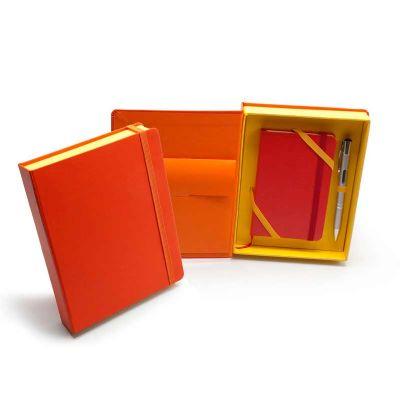 Kit VIP Bahamas - Caderneta tipo Italiana em caixa cartonada com caneta metálica