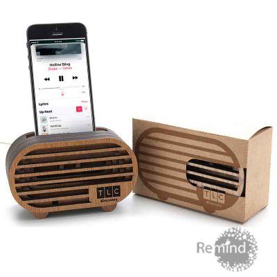 Caixa Acústica Amplificadora para Celular - Mod. Line - Remind Brindes Inteligentes