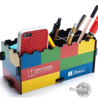 Porta Objetos Montável Tipo Lego™ Personalizado