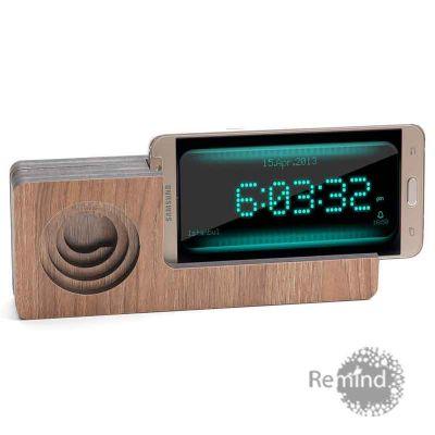 Remind Brindes Inteligentes - Caixa Acústica Amplificadora para Celular Personalizada- Mod. Elle