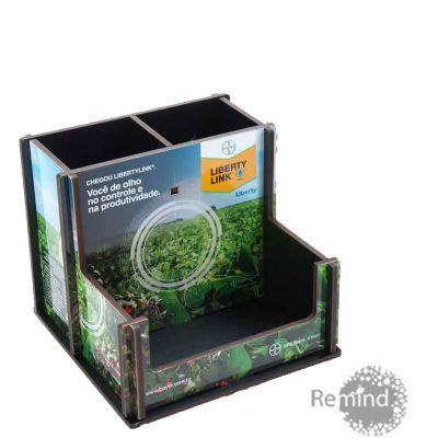 Remind Brindes Inteligentes - Caixa Liberty Link - Porta Lápis, Clips, Lembrete Personalizada