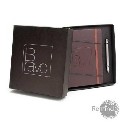Remind Brindes Inteligentes - Kit Caderneta Italiana Tipo Moleskine Brinde
