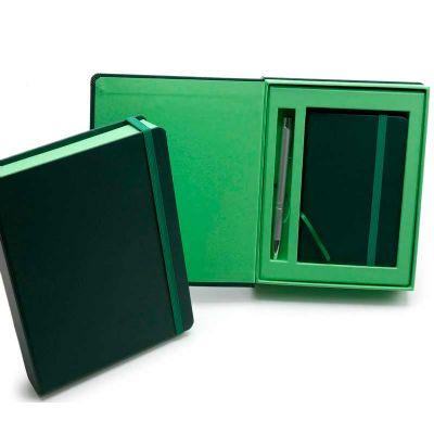 Remind Brindes Inteligentes - Kit VIP Madagascar - 2 Cadernetas em caixa cartonada com caneta metálica