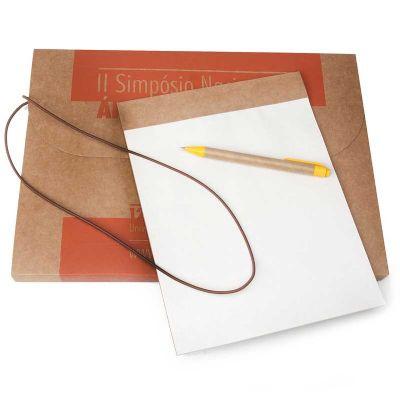 Remind Brindes Inteligentes - Pasta com caneta e bloco ecológico personalizado.