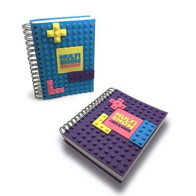 promofy-brindes-personalizados - Caderno Lego emborrachado personalizado