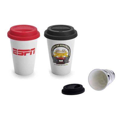 promofy-brindes-personalizados - Caneca de Porcelana com Tampa