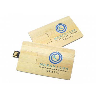 Pen drive Card Bamboo.