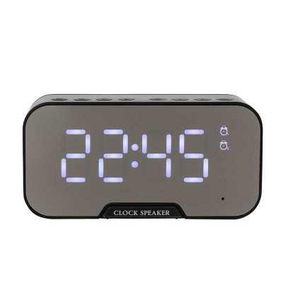 Caixa de Som Multimídia com Relógio e Suporte para Celular