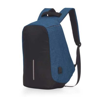 Mochila para notebook, anti-furto, zíper protegido, conector USB externo na lateral, com cabo USB...
