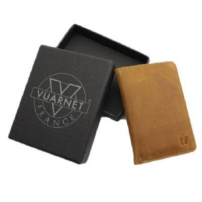 Carteira/ Porta-cartões de couro Vuarnet
