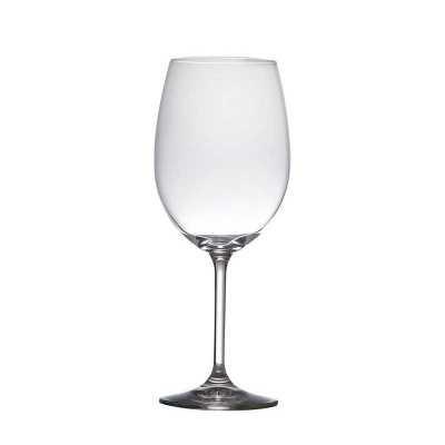 Taça de vinho tinto de cristal ecológico. Volume: 450 ml. Personalização em decalque ou a laser.