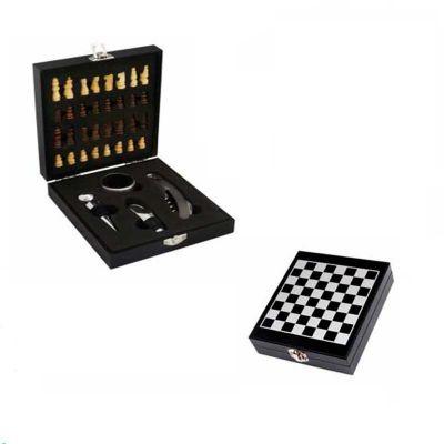 Brindes de Luxo - Kit vinho formato xadrez