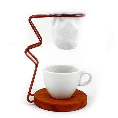 Mini Coador de Café com Xícara de Cerâmica